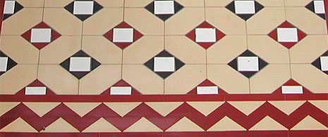 close up of tiled path